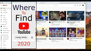 How To Find The Creator Studio in YouTube's New Format 2020