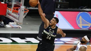 Clippers Give Up Giannis Clutch Dunk and 17 Pts in 4th QTR! 2020-21 NBA Season