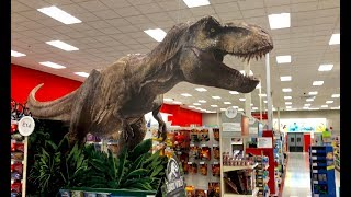 Jurassic World Fallen Kingdom Toy hunt w Giant T-Rex at Target - Disney pixar cars 3 - Dinosaur Toys