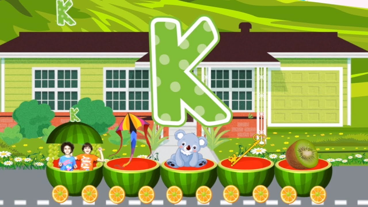 Learn ABC | Watermelon Train | Learning Videos For Children | Letter K | Andrew Max Show