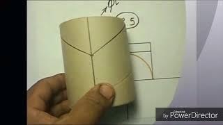 Unión a 90 grados de dos tuberías un plantilla , trazando sobre la tubería
