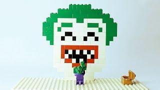 Lego Joker Brick Building Mosaic Superhero Animation