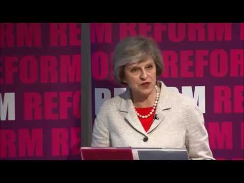 Home Secretary Theresa May: fire reform