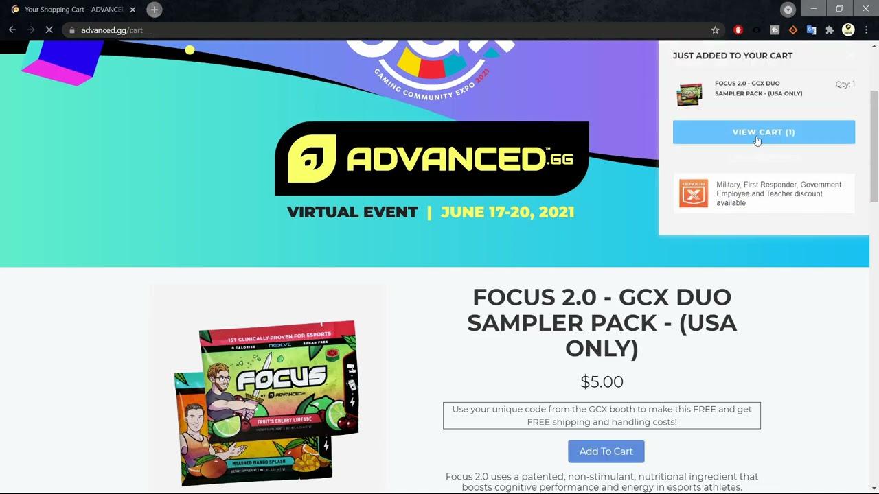 Free Advanced GG Focus 2.0 Sampler - GCX Event Promo