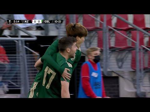 Download Kyogo Furuhashi opens the scoring for Celtic in Europa League playoff 2nd Leg v AZ Alkmaar