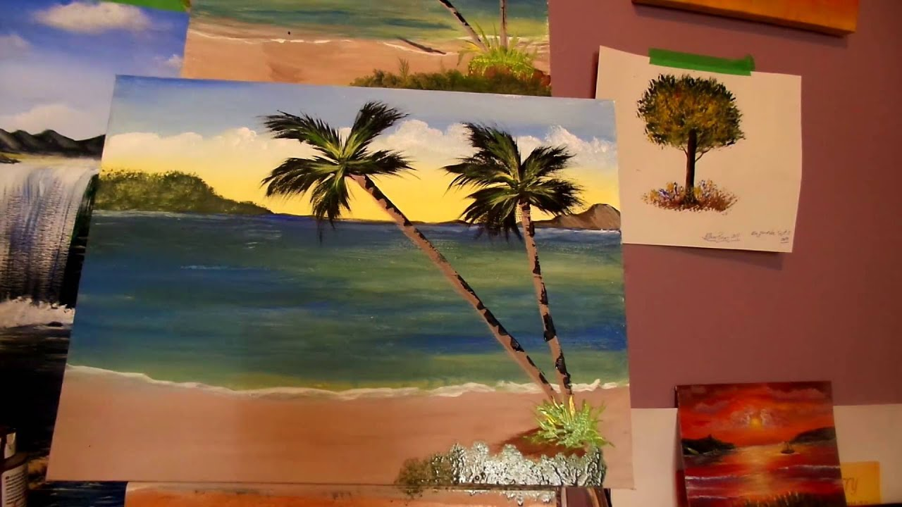 Easy Techniques To Paint An Ocean View With Palm Trees