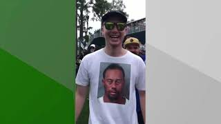 Tiger Woods mug shot T-shirt gets a laugh from Tiger at The Players Championship