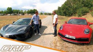 Corvette C8 vs. Porsche 911 Carrera S I GRIP
