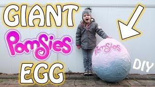 GIANT POMSIES EGG SURPRISE! DIY