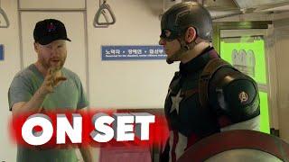 Marvel's Avengers: Age Of Ultron: Behind The Scenes Movie Broll - Robert Downey Jr., Chris Evans