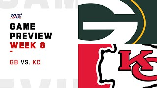 Green Bay Packers vs. Kansas City Chiefs Week 8 NFL Game Preview