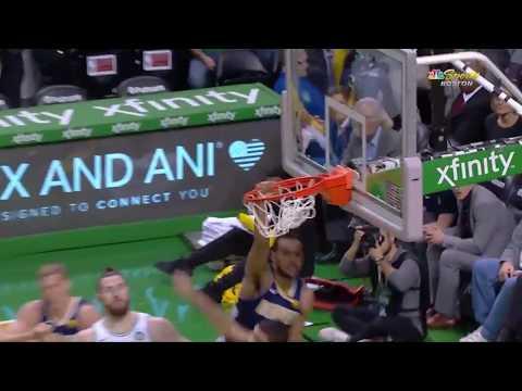 Nuggets' Trey Lyles Throws Down Disrespectful Dunk and Finish on Celtics' Jayson Tatum
