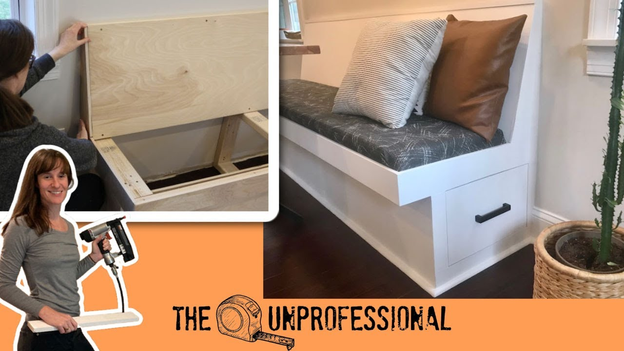 Diy Banquette Bench Or Dining Bench With Storage