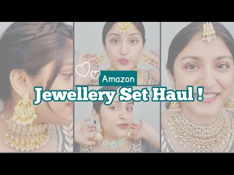 AMAZON JEWELLERY HAUL starts at Rs 180 for affordable bridal jewellery , wedding guest ✨