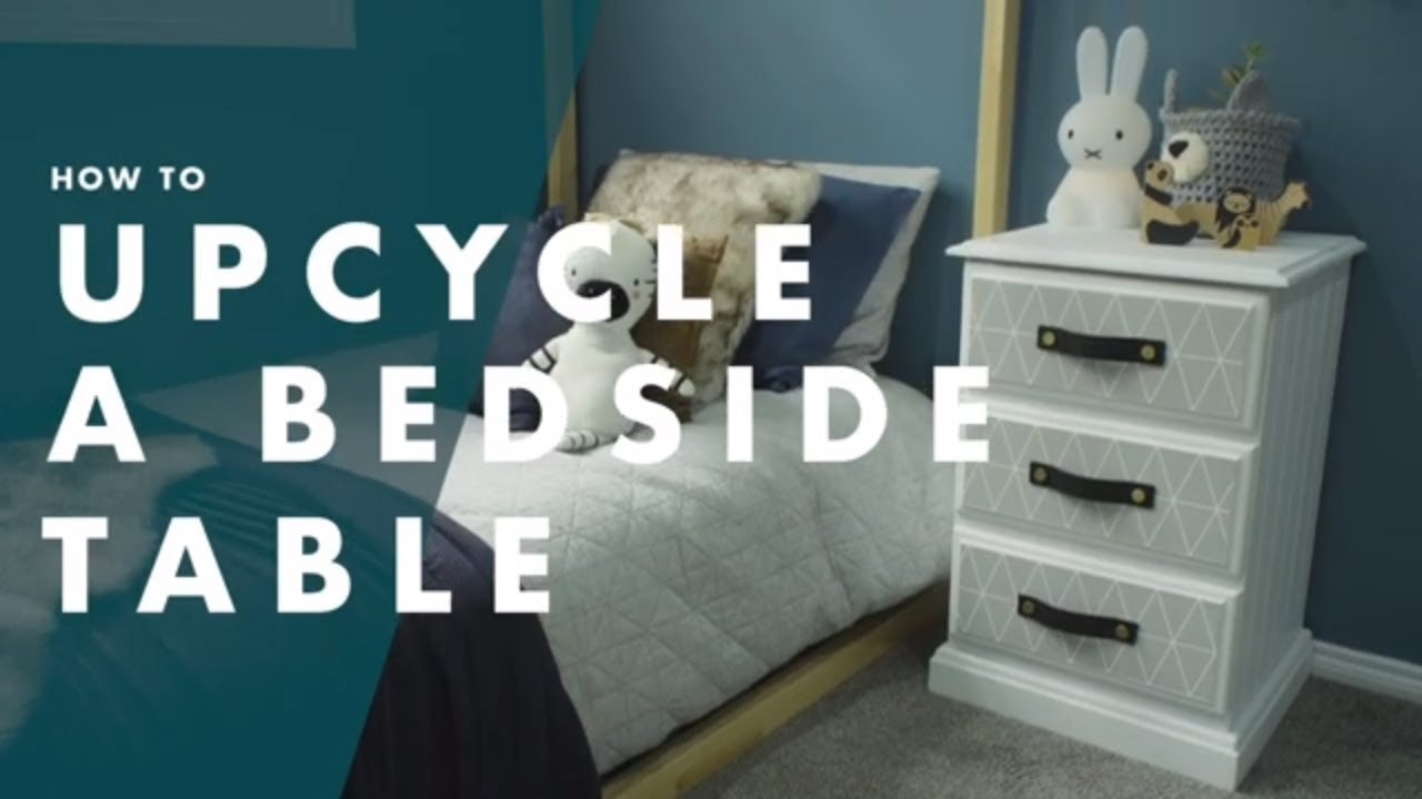 How To Upcycle A Bedside Table With Wallpaper