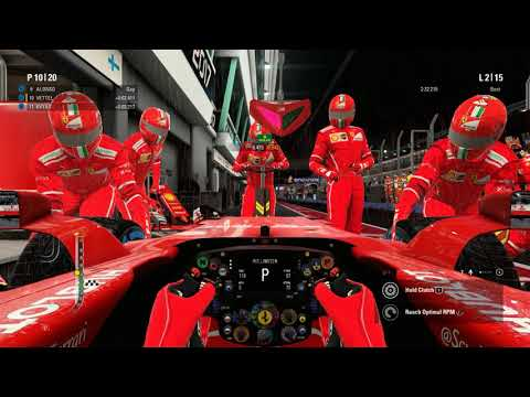F1 2017 - 0% AI at Singapore - Wet Track, Dry Tires