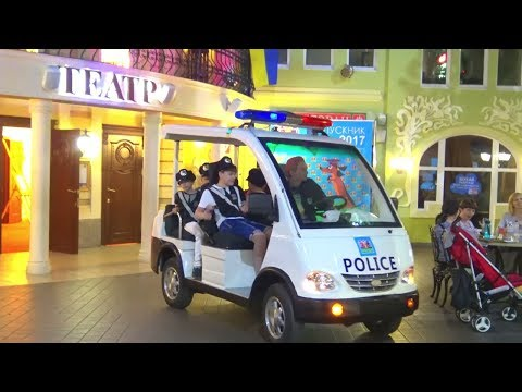 Thumbnail: Funny baby play Kids Indoor Playground Play Area with Police car & Fire Truck Nursery Rhymes songs