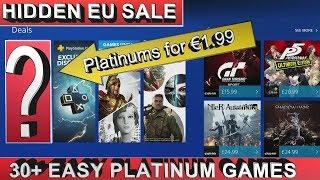 PS4 [EU] Hidden SALE  Games under €5/£4 | 30 Easy Platinum Games | ends 20/09/18