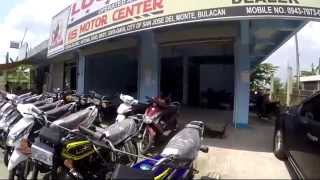 Bulacan Philippines, a walk past some local shops, motor bikes