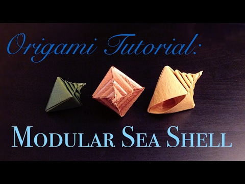Origami Tutorial Modular Sea Shell Tomoko Fuse