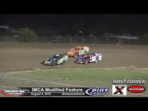 Princeton Speedway 8/5/16 IMCA Modified feature highlights