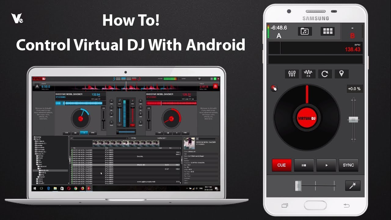 How To Control Virtual DJ With Android Mobile Using Virtual DJ Remote 2018