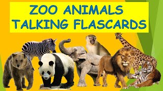 ZOO ANIMALS TALKING FLASHCARDS   ESL LESSON FOR YOUNG LEARNERS