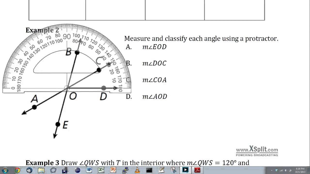 worksheet Naming Angles measuring and naming angles youtube angles