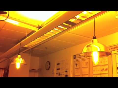 Low Pressure Sodium Lamps Restriking   Two SOX 35 And Two Sox 180   YouTube