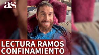 REAL MADRID | SERGIO RAMOS presume de lectura durante su confinamiento por COVID-19 | AS