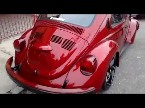 Fusca Vermelho Maca Do Amor Com Rodas Ferrari Muito Lindo Youtube