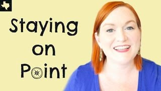 Staying On Point - How To Set Goals and Meet Them - Weekly Goal Setting Check In