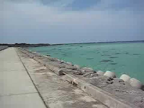 下地島の海が見える道路を自転車で爆走!(西側)