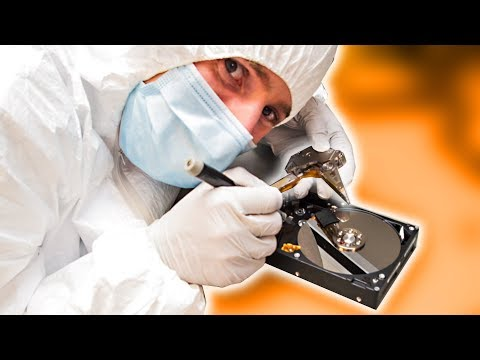 REAL Data Recovery - Linus Swaps Hard Drive Actuator!
