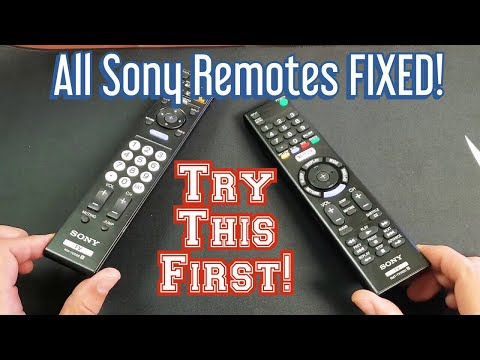 ALL Sony Remote Controls FIXED! Power Button, Other Buttons, Ghosting, Etc FIXED!