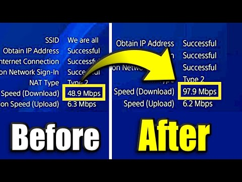 HOW TO GET 100% FASTER INTERNET CONNECTION ON PS4! MAKE YOUR PS4 DOWNLOAD FASTER/GUIDE [2021]
