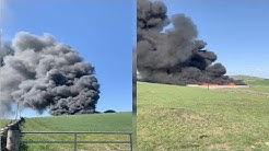 Massive fire breaks out at recycling site on Dumfries farm