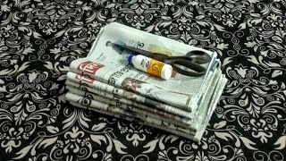 3 DIY NEWSPAPER BASKET/ NEWSPAPER CRAFT IDEAS