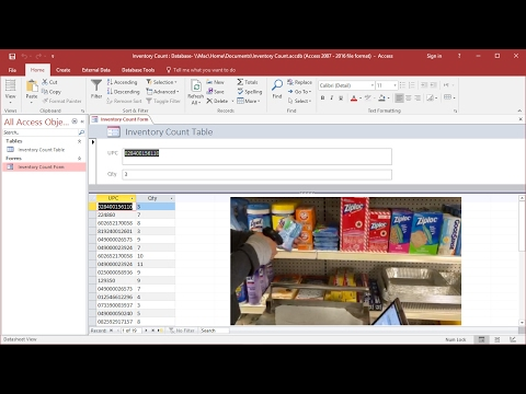 How to count inventory with barcode scanner using Excel and Access
