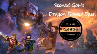 Clash of Clans 3 star attack Stoned GoHo Dragon Flower Base Max TH9