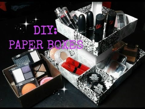 DIY: Paper Boxes for Makeup, Jewelry, Cupcakes, Ect...