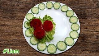Trang trí đĩa thức ăn từ cà chua và dưa chuột | Tomatoes and cucumbers decorate | Liam channel