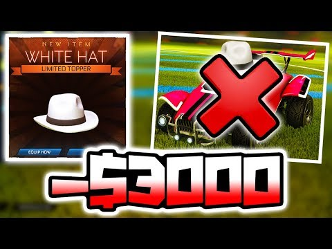 IF I LOSE... HE GETS MY WHITE HAT FOR FREE!! ( -$3000 Rocket League )