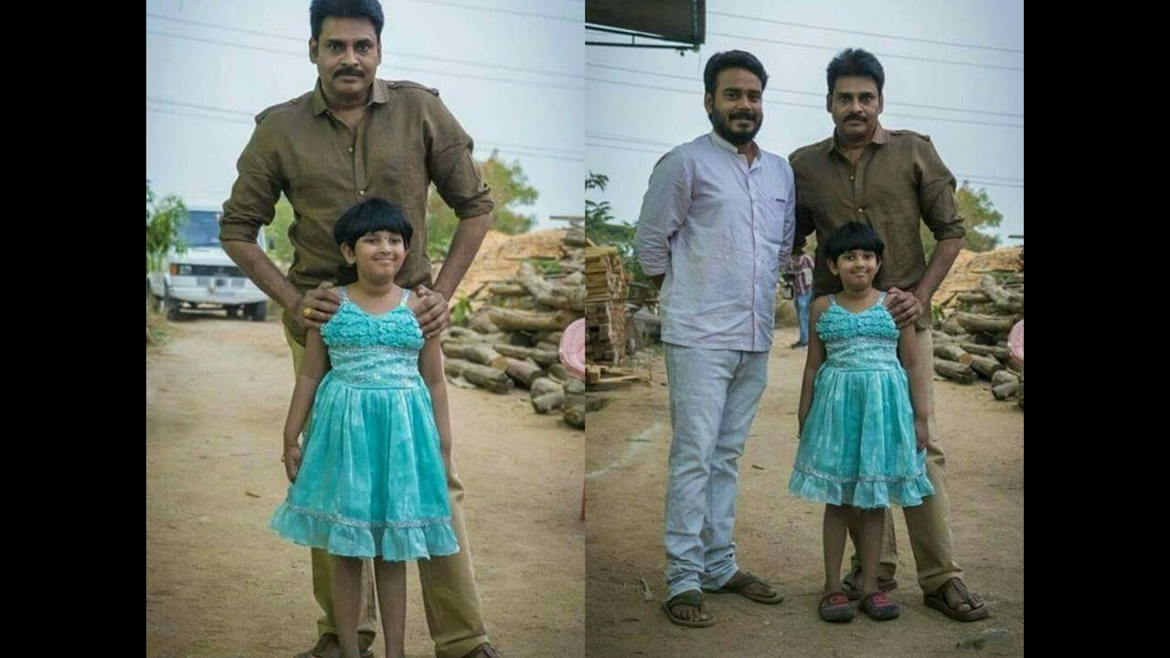 power star pawan kalyan with his daughter unseen rare