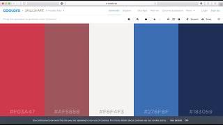 Using Coolors.co to Choose a Colour Palette
