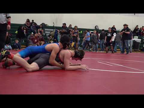 154lbs   Connor Lawler   Berkshire Badger WC vs  Gabe Simard   Wilbraham   2 4 18