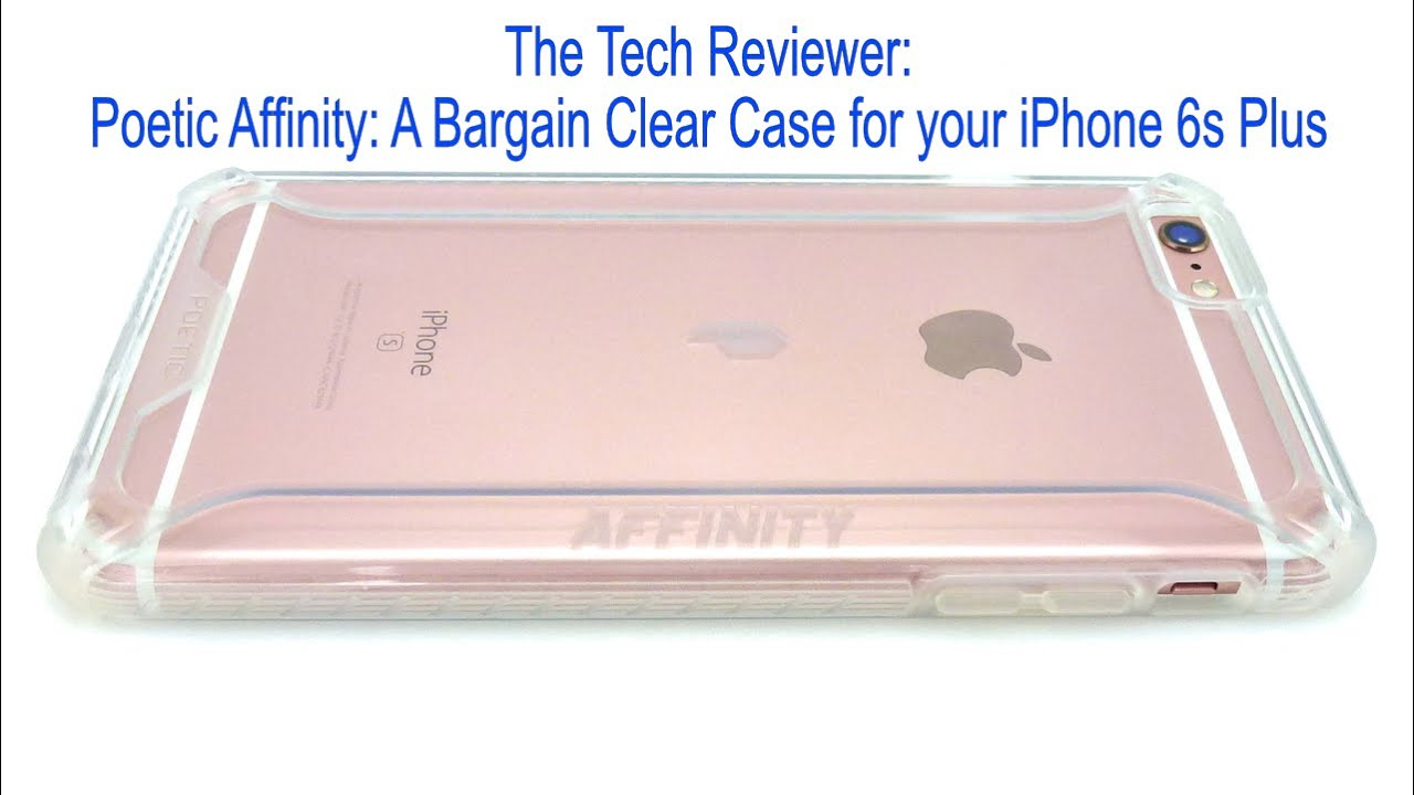 hot sale online a3461 13b12 Poetic Affinity--A Bargain Clear Case for your iPhone 6s Plus!