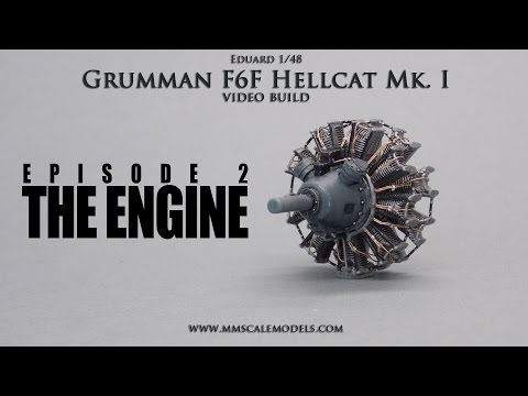 1/48 F6F-3 (Mk.I) Hellcat scale model step by step build - Ep.2 - The Engine