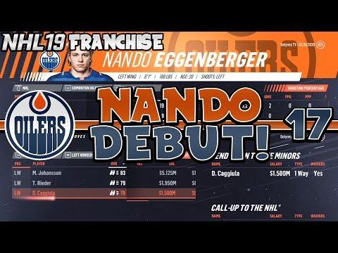 NHL 19 Edmonton Oilers Franchise Mode Episode 17 | Nando Eggenberger NHL Debut + Playoff Chase