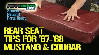 Classic Car Mustang Cougar Rear Seat Fixes And Tips, Installing Lap Belts, Pedal Pads Episode 187 Au